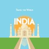 Podróżuje świat - India Zdjęcia Stock
