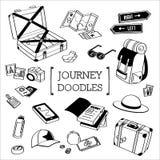 Podróżuje Doodle, ręka rysunku podróż style Obraz Royalty Free