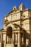 Podróżuje fotografię St Catherine Włochy kościół w Valletta, Malta obrazy stock