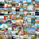 Podróżuje fotografie od różnych miast świat Obraz Stock