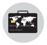 Podróżuje i robi zakupy z kredytową kartą, bagażu pojęcie Obraz Royalty Free