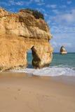 podróżuje jeden piękne plaże atlantycki wybrzeże w południowym Portugal zdjęcie royalty free