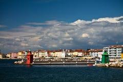 Podróżuje piękny piran na Adriatic morzu, Slovenia Zdjęcie Stock