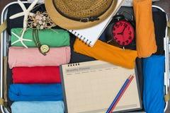 Podróżuje planowanie i podróżnika pakuje bagaż obraz royalty free
