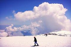 Podróży śnieżna wycieczka w Kaszmir India Zdjęcie Stock
