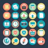 Podróży Barwione Wektorowe ikony 1 Zdjęcie Stock