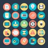 Podróży Barwione Wektorowe ikony 3 Zdjęcie Royalty Free