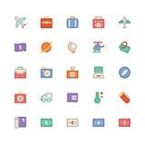 Podróży Barwione Wektorowe ikony 1 obraz stock