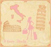 Podróży dziewczyna w Włochy Zdjęcie Stock