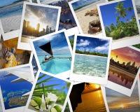 Podróży fotografie i wakacyjni wspominki fotografia stock
