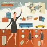 Podróży I podróży Infographic Biznesowy projekt Fotografia Stock