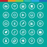 Podróży i rozrywki ikony set Obraz Stock