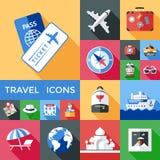 Podróży ikony Śledzony set royalty ilustracja