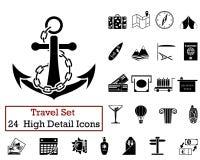 24 podróży ikony Zdjęcia Stock