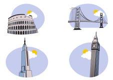 Podróży Ikony royalty ilustracja