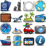 Podróży ikony set Fotografia Royalty Free