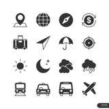 Podróży ikony ustawiać - Wektorowa ilustracja Obraz Royalty Free