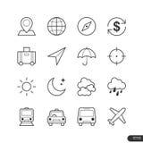 Podróży ikony ustawiać - Wektorowa ilustracja Zdjęcia Stock