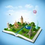 Podróży książka royalty ilustracja