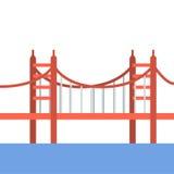 Podróży miejsc Golden gate bridge ilustraci sławna ikona Obrazy Stock