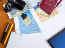 Podróży podróży planistyczny pojęcie zdjęcie stock