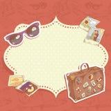 Podróży pocztówka ilustracji