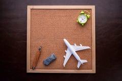 Podróży pojęcie z corkboard Zdjęcia Stock