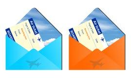 Podróży powietrznych koperty ilustracji