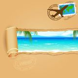 Podróży tło dla morze plaży royalty ilustracja
