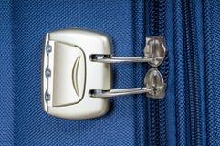 Podróży torba z suwaczkiem i cyfrowanie kędziorkiem Obrazy Royalty Free