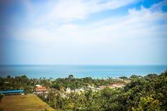 Podróży urlopowy tło Tropikalna wyspa z Obraz Stock