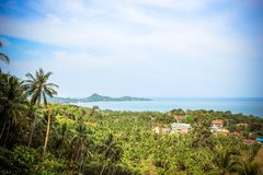 Podróży urlopowy tło Tropikalna wyspa z Obrazy Stock