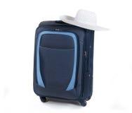 Podróży walizka odizolowywająca na białym tle Zdjęcia Royalty Free