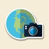 Podróży wektorowa ilustracja, wektorowa ikona Obrazy Stock