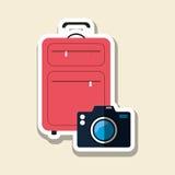 Podróży wektorowa ilustracja, wektorowa ikona Obraz Royalty Free