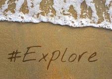 Podróży podróży wycieczka Bada ikonę zdjęcie stock