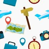 Podróż bezszwowy wzór Zdjęcie Royalty Free