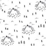 Podróż bezszwowy wzór w doodle stylu Zdjęcie Royalty Free
