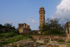 Podróż India, Chittorgarh -: Vijay Stambh Zdjęcie Stock