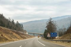 Podróż na autostradzie Obraz Royalty Free