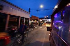 Podróż na taxi Zdjęcia Royalty Free