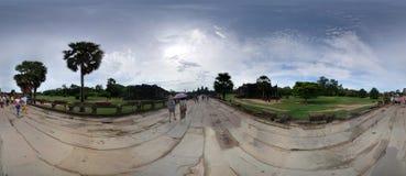 Podróżnicy Angkor Wat Fotografia Stock