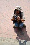 Podróżnik w Durbar kwadracie przy Kathmandu Nepal Obraz Royalty Free