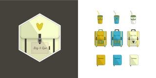Podróżnika logo i set Fotografia Royalty Free