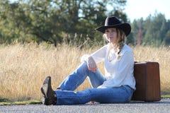 Podróżny Cowgirl Obrazy Royalty Free