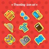 Podróżny ikona set Fotografia Stock