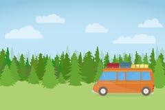 Podróż samochód Obrazy Royalty Free
