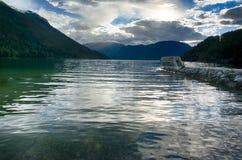 Podróż w norweskim fjord Obrazy Royalty Free