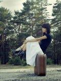 Podróży dziewczyna obrazy stock
