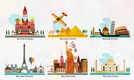 Podróży i turystyki lokacje Zdjęcia Stock